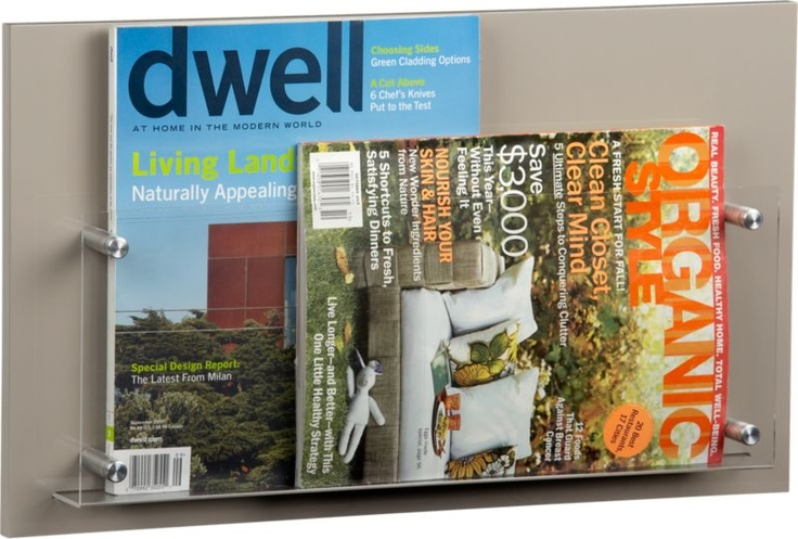 Cb2 wall magazine rack