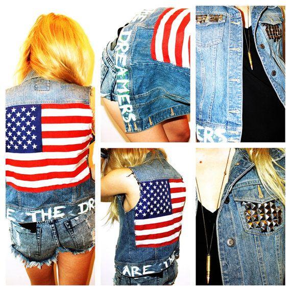 american flag vests
