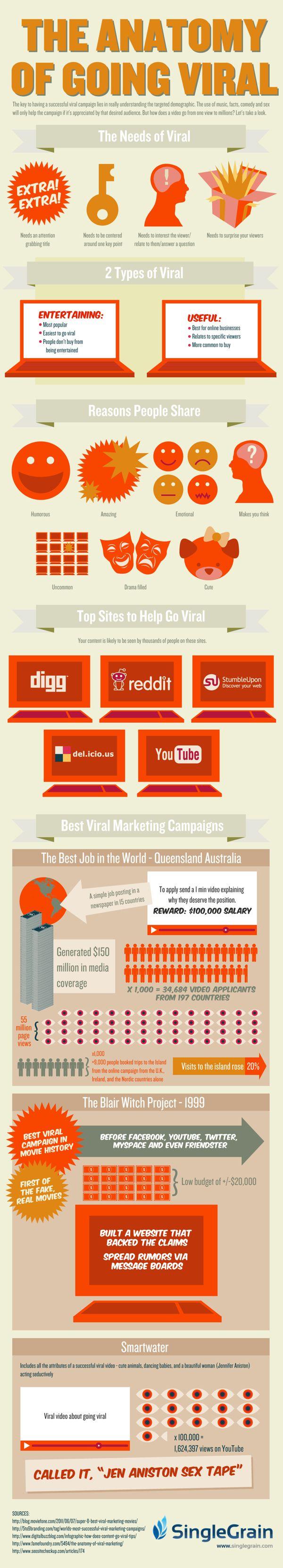 Cómo realizar campañas virales #infografía #infographics #viral #marketing