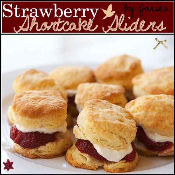 Straberry Shortcake Sliders ♥ | desserts | Pinterest