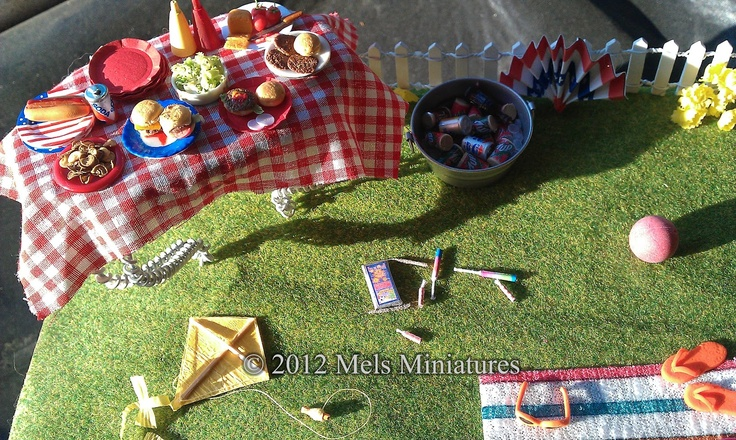 miniature 4th of july decorations