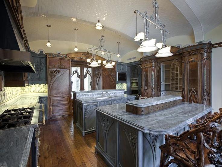 Amazing Art Nouveau style kitchen in Coral Gables, Florida