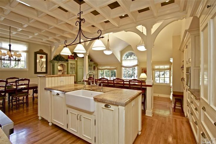 Modern craftsman style kitchen i want this pinterest for Craftsman style kitchen pictures