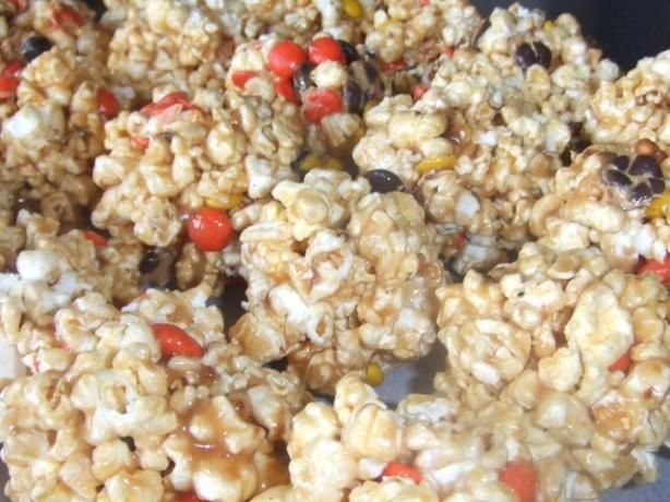 Peanut Butter Popcorn Balls With Reese s Candy from Food.com: Great ...