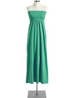 Women's Smocked Maxi Tube Dress (Imperial Jade). Old Navy. $32.94
