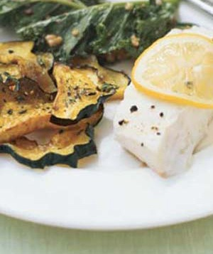 Roasted Acorn Squash - Swap out the fish in the picture for bourbon ...
