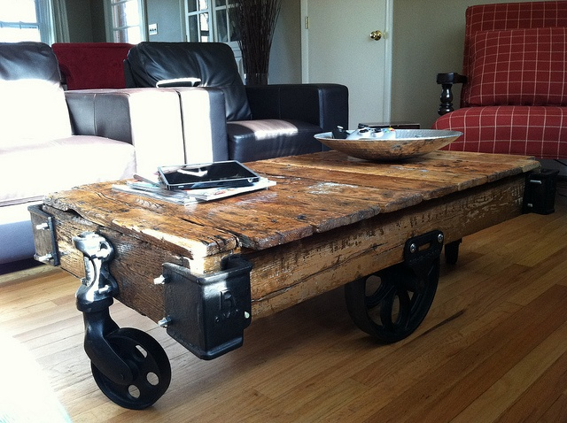 Coffee Table Restored Warehouse Cart From The 1900 39 S
