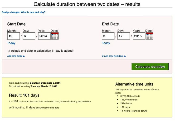 "Use a countdown clock ""between two dates"" website to calculate the ..."