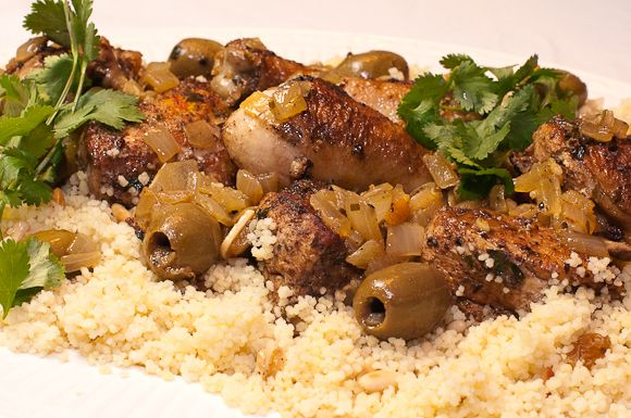 Chicken Tagine with Green Olives and Preserved Lemon | Recipe