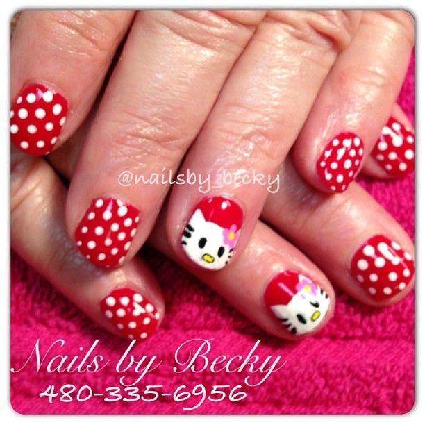 Hello kitty gel manicure :) Located in Phoenix AZ