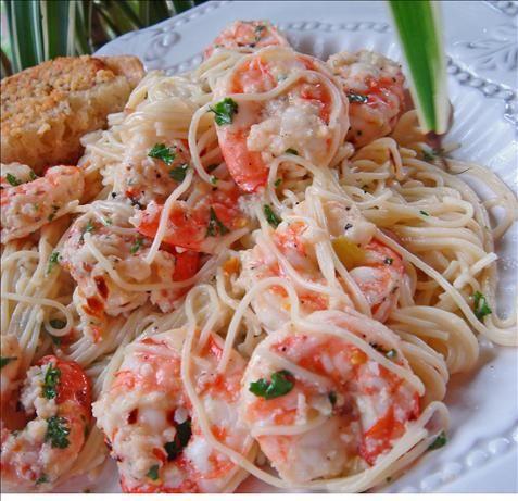 Kittencal's Lemon Shrimp Scampi With Angel Hair Pasta | Recipe