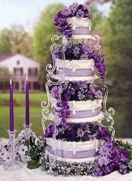 Pretty purple cake cakes wedding unusual cakes and - Purple cake decorating ideas ...