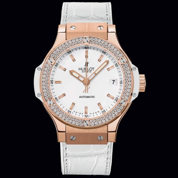 Hublot Big Bang 38mm Gold White Diamonds