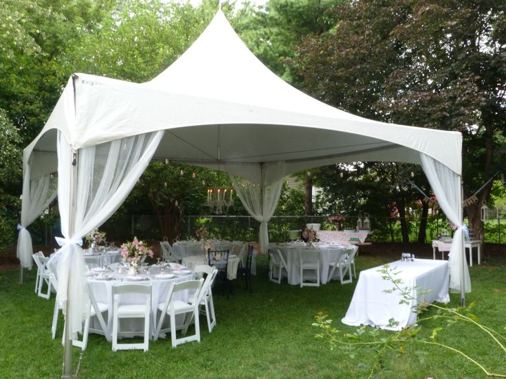 Backyard party under the tent  Party Planning  Pinterest