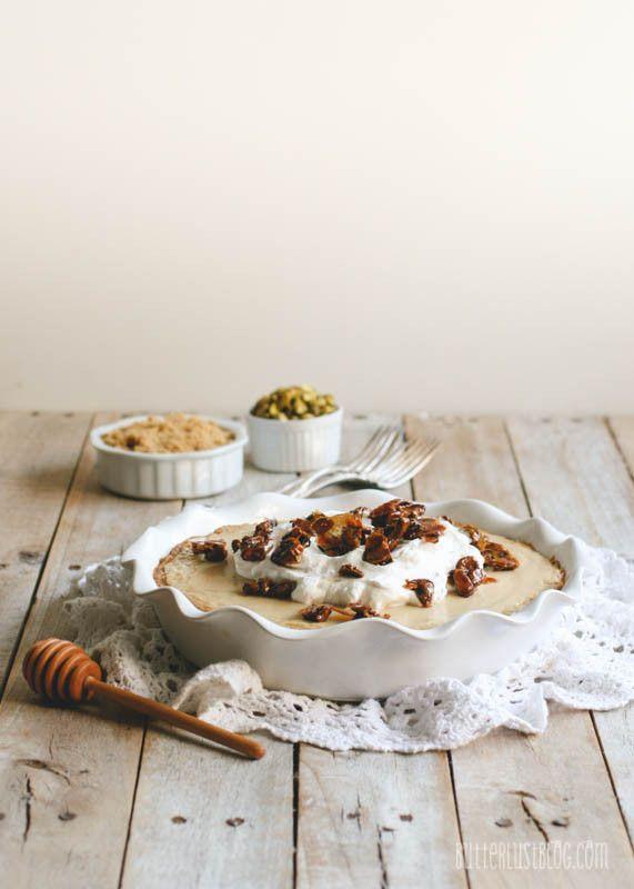 Pie with Vanilla Shortbread Cookie Crust & Honeyed Pistachio ...