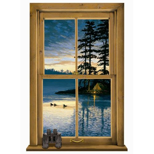 Lake forest lodge log cabin scenic mural york for Cabin in the woods wall mural
