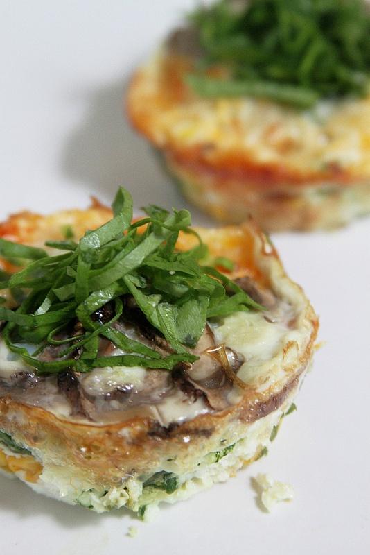 80 Calorie Quiche Lorraine w/ Asparagus, Corn, Spinach & Mushrooms ...