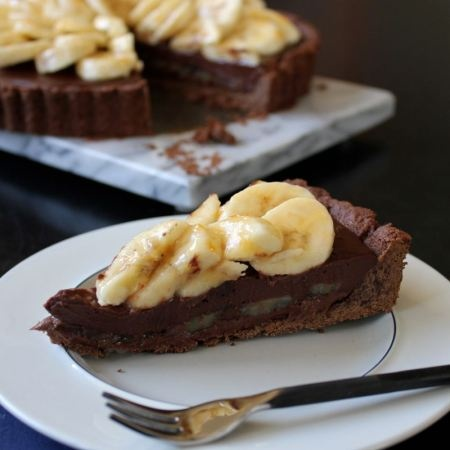 Nutella, Double Chocolate & Banana Tart