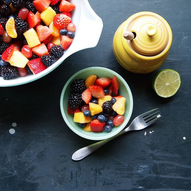 Fruit salad with honey-lime dressing | Bad Ass Breakfasts - EAT.Drink ...