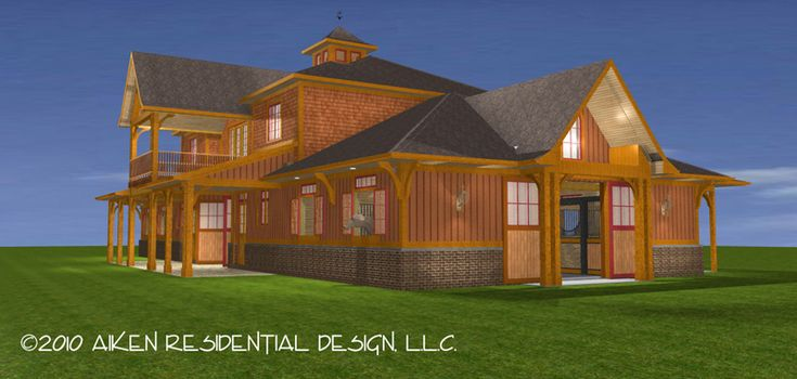 Horse barns with living quarters builder unique for Horse barn with apartment plans