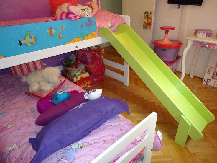 Cama doble con resbaladilla genial con alma de ni os - Doble cama para ninos ...