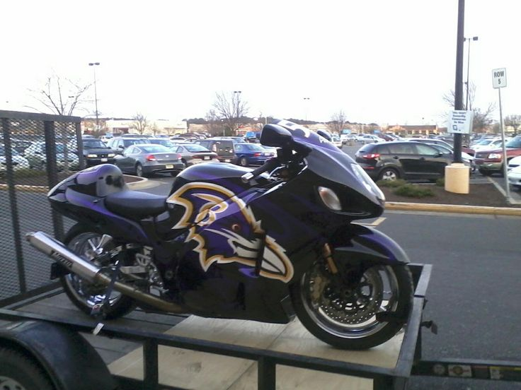 Ravens Inspired Motorcycle