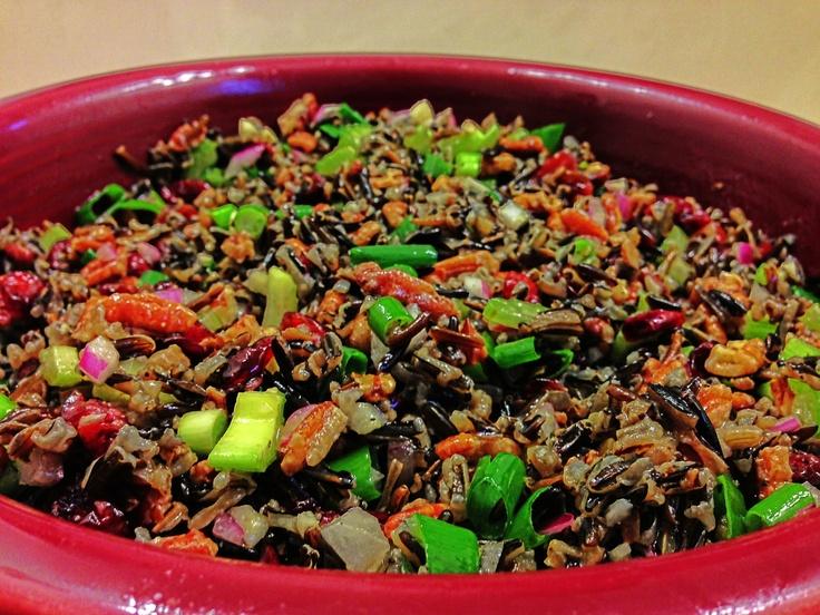 Wild Rice Salad with Pecans & Cranberries