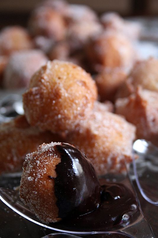 Zeppole with Orange Chocolate Sauce because He is Never Too Late to ...
