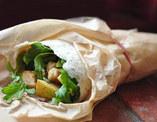 Arugula, Apple & Chickpea Salad Wraps   Recipe