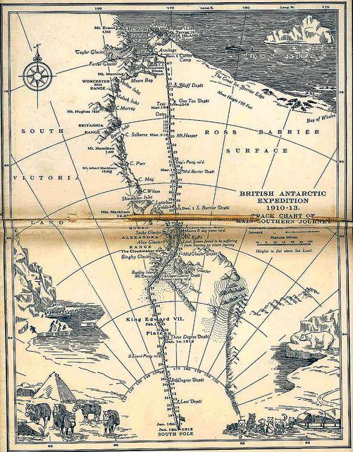 Scott's last expedition map, 1923 / john murray