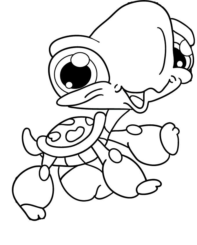 Gallery Of Baby Sea Animals Coloring Pages To Print For Kids Cute