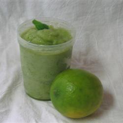 Lime and basil sorbet @ allrecipes.co.uk