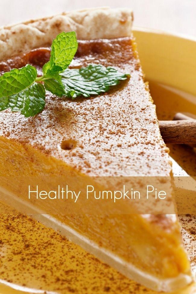Healthy Pumpkin Pie Recipe | Recipes | Pinterest