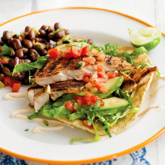 Grilled Fish Tacos With Roasted Corn And Pepitas Recipes — Dishmaps