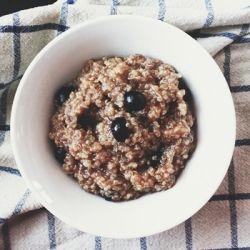 Chai Blueberry Porridge | BBM | Pinterest