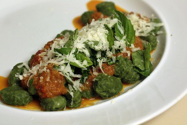 Red Sauce and Spinach Gnocchi | Gnocchi Galaxy | Pinterest