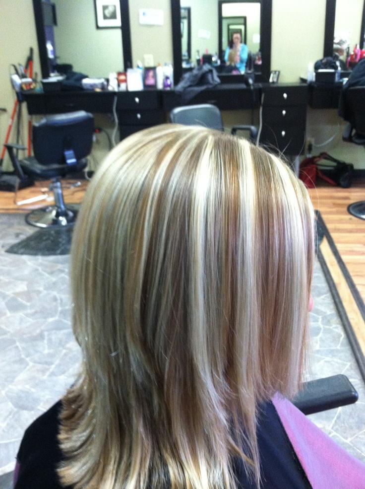 Dark Brown Hair With Bleach Blonde Highlights Hairs