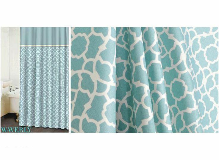 lovely lattice aqua waverly shower curtain