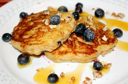Lemon-Blueberry Yogurt Pancakes. | Cooking - Blueberry | Pinterest