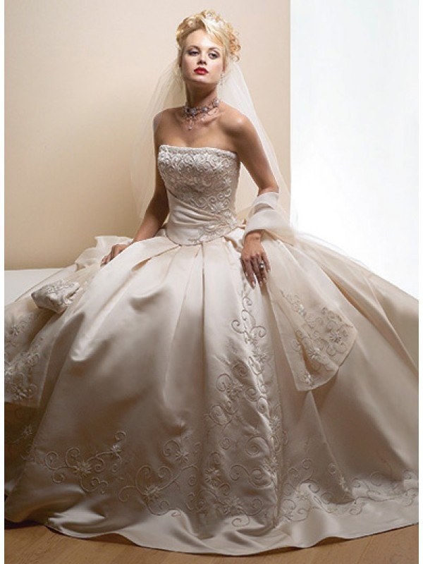 Strapless ballgown style wedding dress one day in a for A storybook ending bridal prom salon