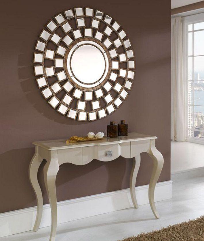 Mil artes mujer galer a de recibidores modernos for Decoracion de pared con espejos redondos
