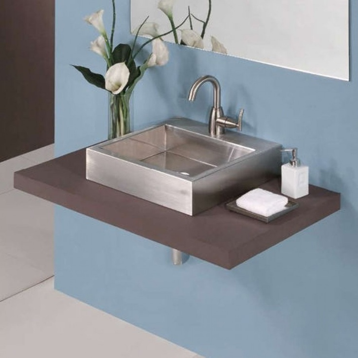 Decolav Sinks : DecoLav Crofton Vessel Sink in Stainless Steel - 1280-1B