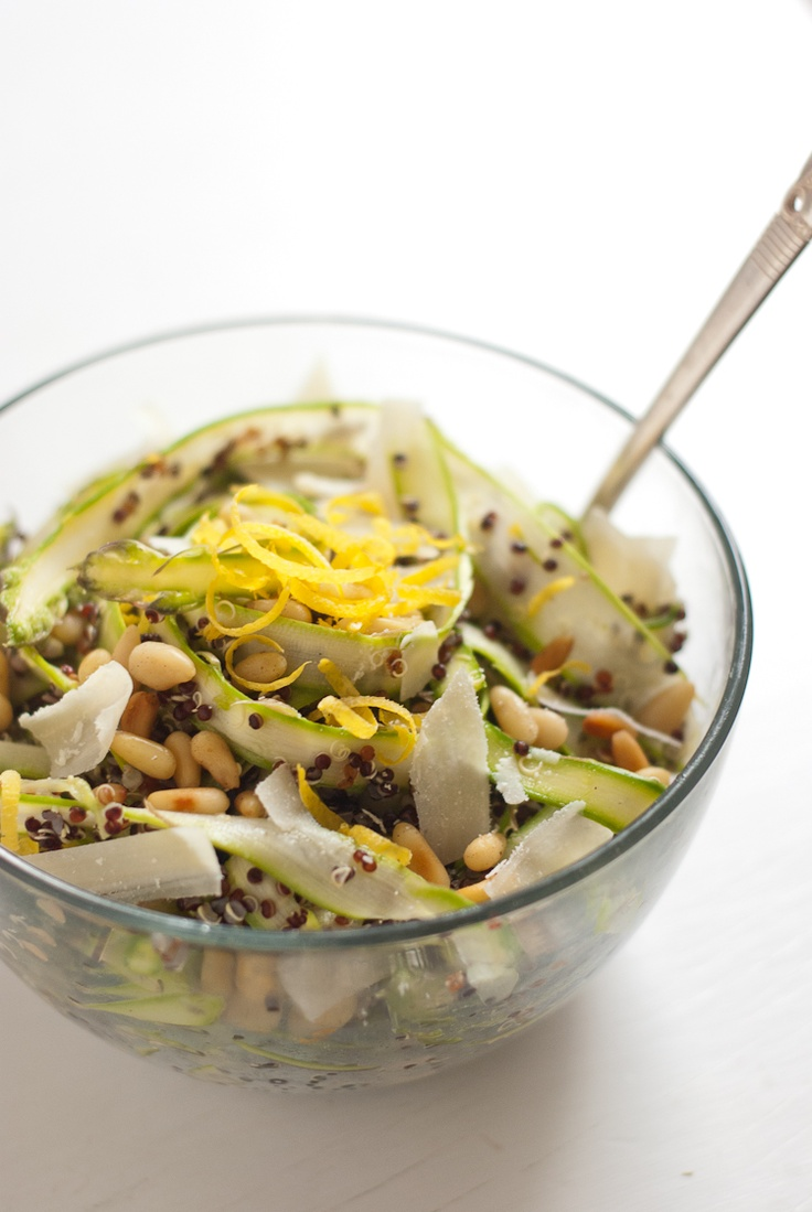Ribboned Asparagus & Quinoa Salad--for the next batch of asparagus