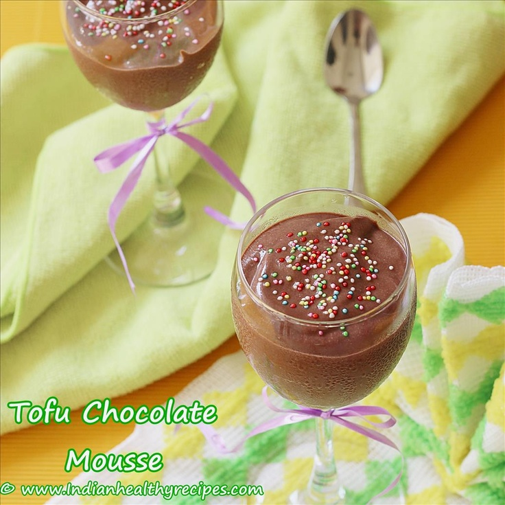 Tofu chocolate mousse (Eggless) | Indian Healthy Recipes