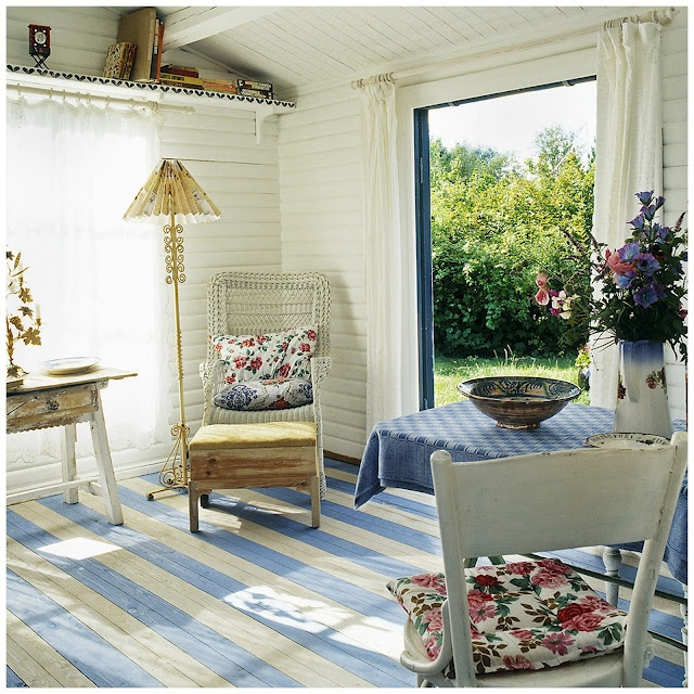 Gorgeous shabby chic holiday home in Denmark.
