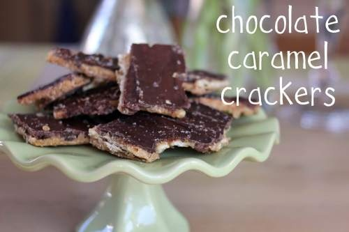 Chocolate Caramel Crackers-crack header | Recipes | Pinterest