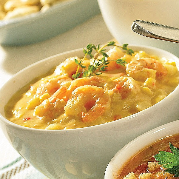 shrimp and roasted corn chowder. Favorite amongst our own private soup ...