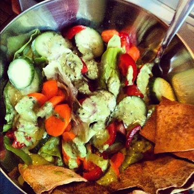 Mixed Salad with Green Goddess Dressing | Vegan Food | Pinterest