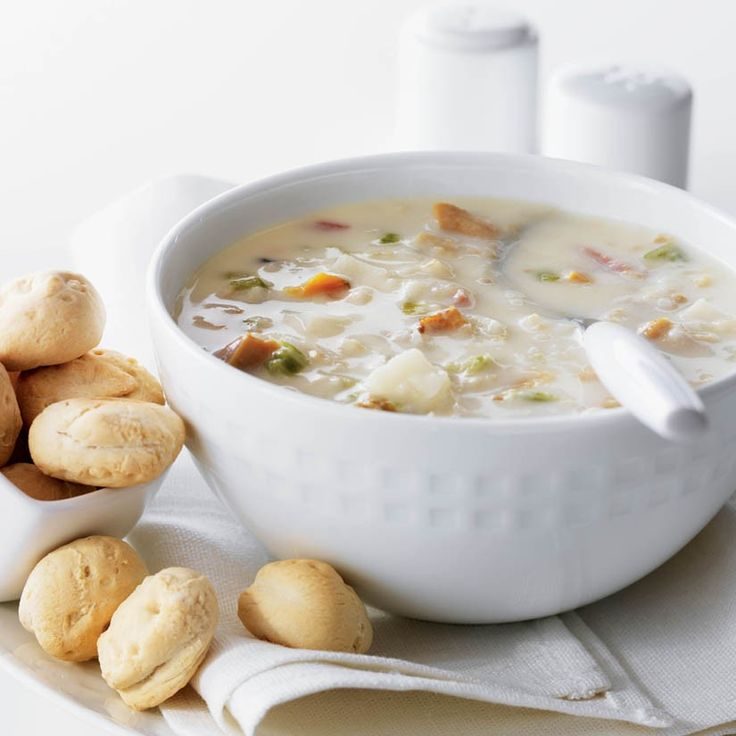 Fall River clam chowder from Emeril, my absolute favorite. But it here ...