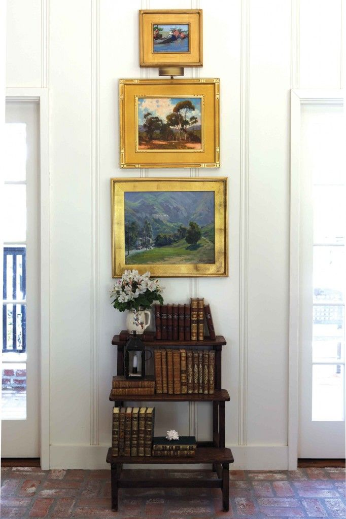 Decorating with heritage furniture; those gold frames with gold matting
